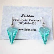 Crystal Sharkstooth Earrings image 2