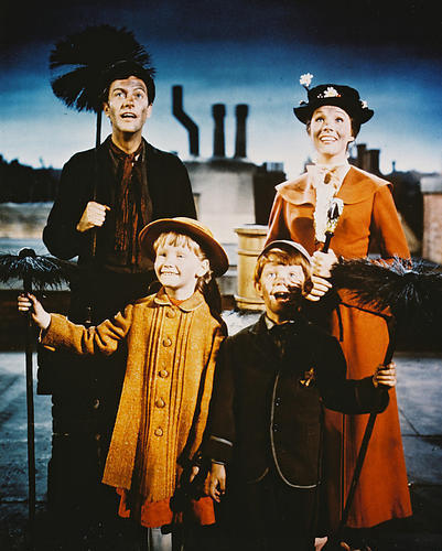 MARY POPPINS MOVIE POSTER 24x36 IN JULIE ANDREWS DICK VAN DYKE OOP
