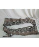 NIB Jessica Simpson High Heel Tan Pull On Stretch Multi Snake Print Boot... - $132.99