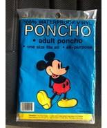 Vintage Walt Disney World Mickey Mouse Rain Poncho NOS Bright Yellow Sea... - $19.59