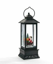 LED Water Lantern Decoration w Santa Sleigh is Ready for Flight