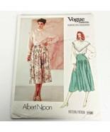 Vogue 1120 Pattern Albert Nipon Skirt Top Size 8 American Designer Uncut ?? - $18.99