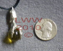 Dragon Claw Talon Yellow Orb Necklace Pendant~NEW  - $7.85