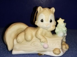 1992 PRECIOUS MOMENTS ORNAMENT # 520411--I'M NUTS ABOUT YOU--SQUIRREL RE... - $16.50