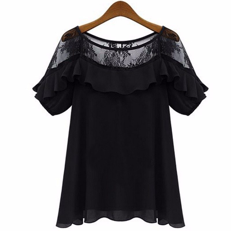 2018 zanzea women sexy blouses tops casual loose blusas o neck short sleeve hollow lace crochet