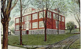 Seminary and School Stamford New York 1918 Post Card - $6.00
