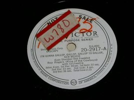 Roy Rogers promotional 78 rpm record vintage RCA Victor - $49.99
