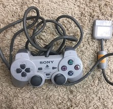 Playstation One PS1 Original Analog Controller Gray Sony Computer Entert... - $14.84