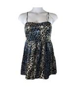 Women's As U Wish Sz 11 Blue Black Leopard Print Sleeveless Dress NWt - $12.20