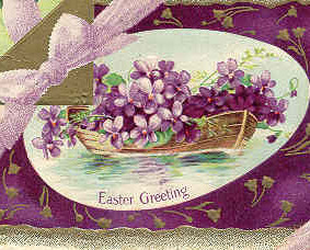 An Easter Violet Bouquet Vintage 1911 Post Card