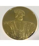 24k Gold On Sterling Silver Portrait Of Francis 100 Greatest Masterpiece... - $149.60