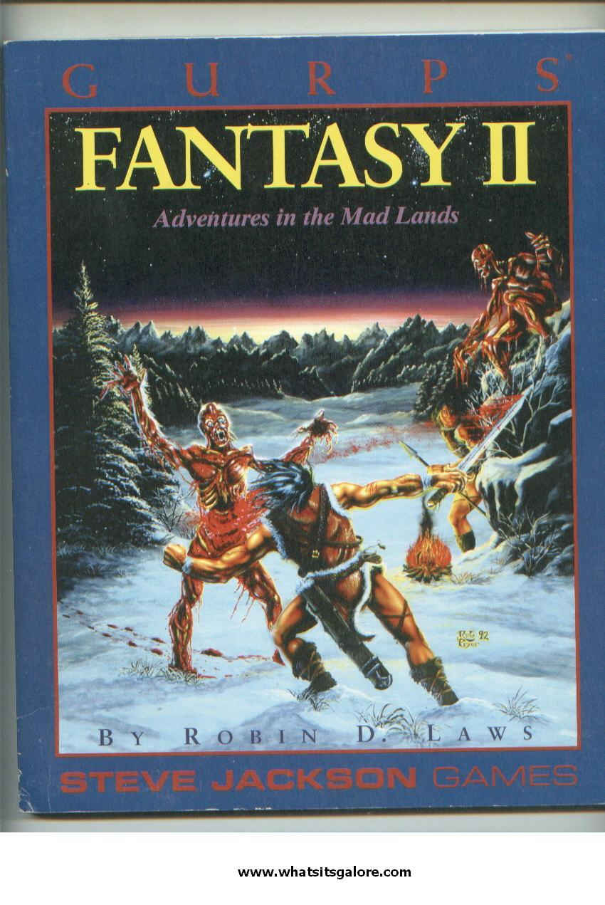 GURPS Fantasy II Adventures in the Mad Lands RPG book role-playing