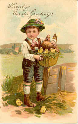 Hearty Easter Greetings Paul Finkenrath of Berlin Post Card