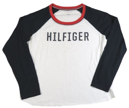 Medium Tommy Hilfiger Women's Lounge Sleep Shirt Ladies Long Sleeve NEW #6