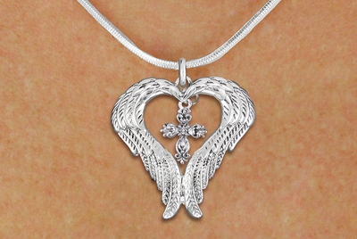 Script CROSS Charm Snake Chain @@ NECKLACE @@ With Lobster Clasp