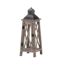 Watchtower Wood Candle Lantern - $44.57