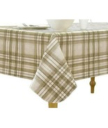 Elrene Home Fashions Vinyl Tablecloth with Polyester Flannel Backing Cou... - $15.83