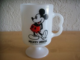Disney Mickey Mouse Milk Pedestal Glass Cup - $18.00