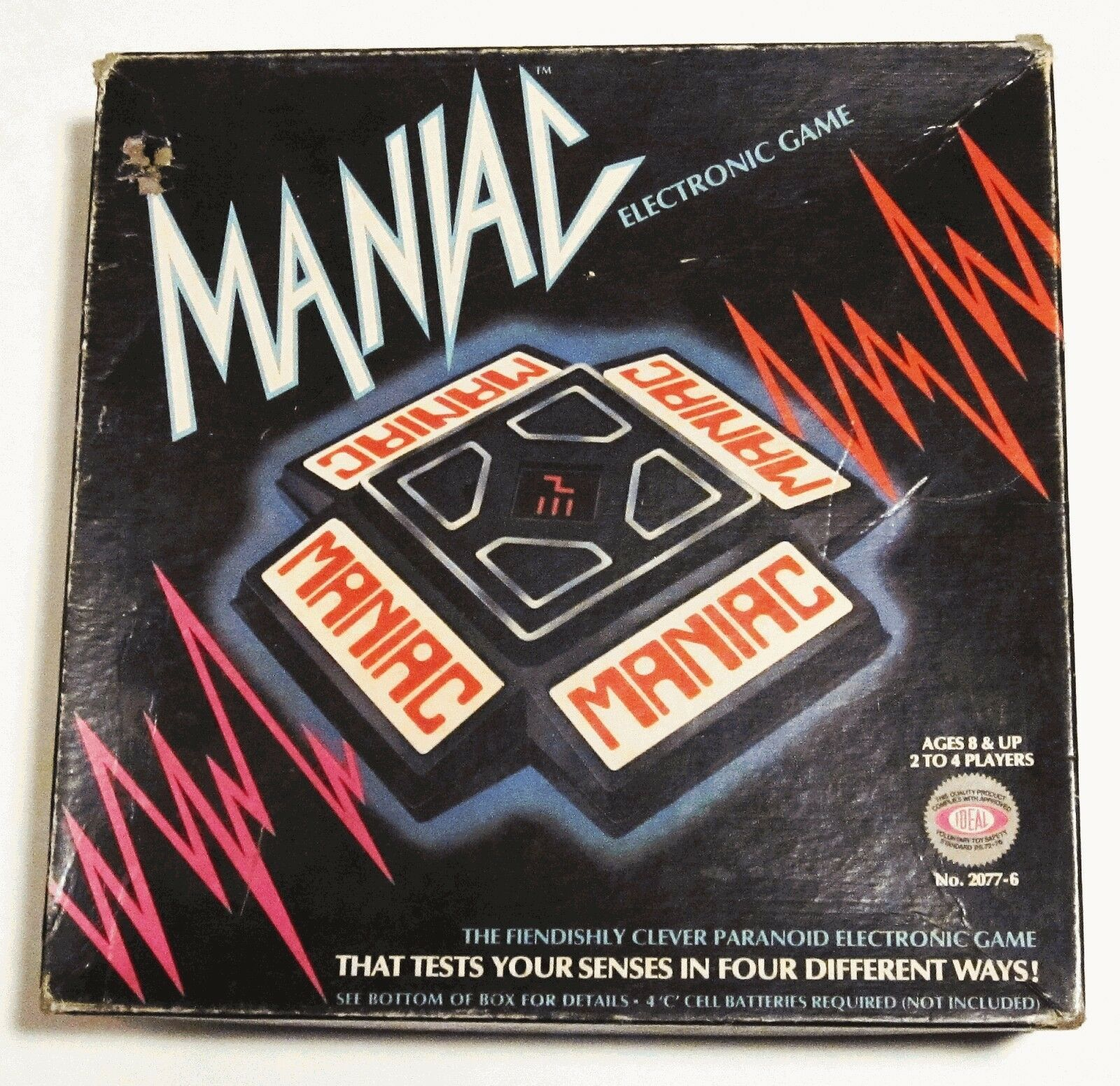 MANIAC Electronic Game 1979 Ideal Complete in Box Vintage Original Kind of Works - £5.72 GBP