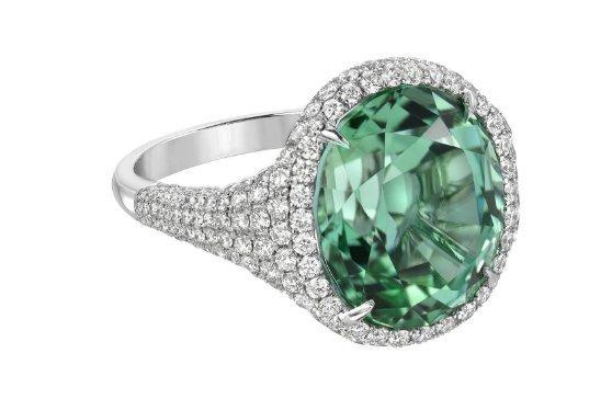 925 Sterling Silver Genuine Fine Quality Green Amethyst And Cz Gemstones Handcra