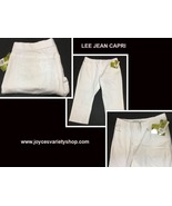 Lee Styleup White Jean Capri Sz 14P Pull On Stretch - $14.99