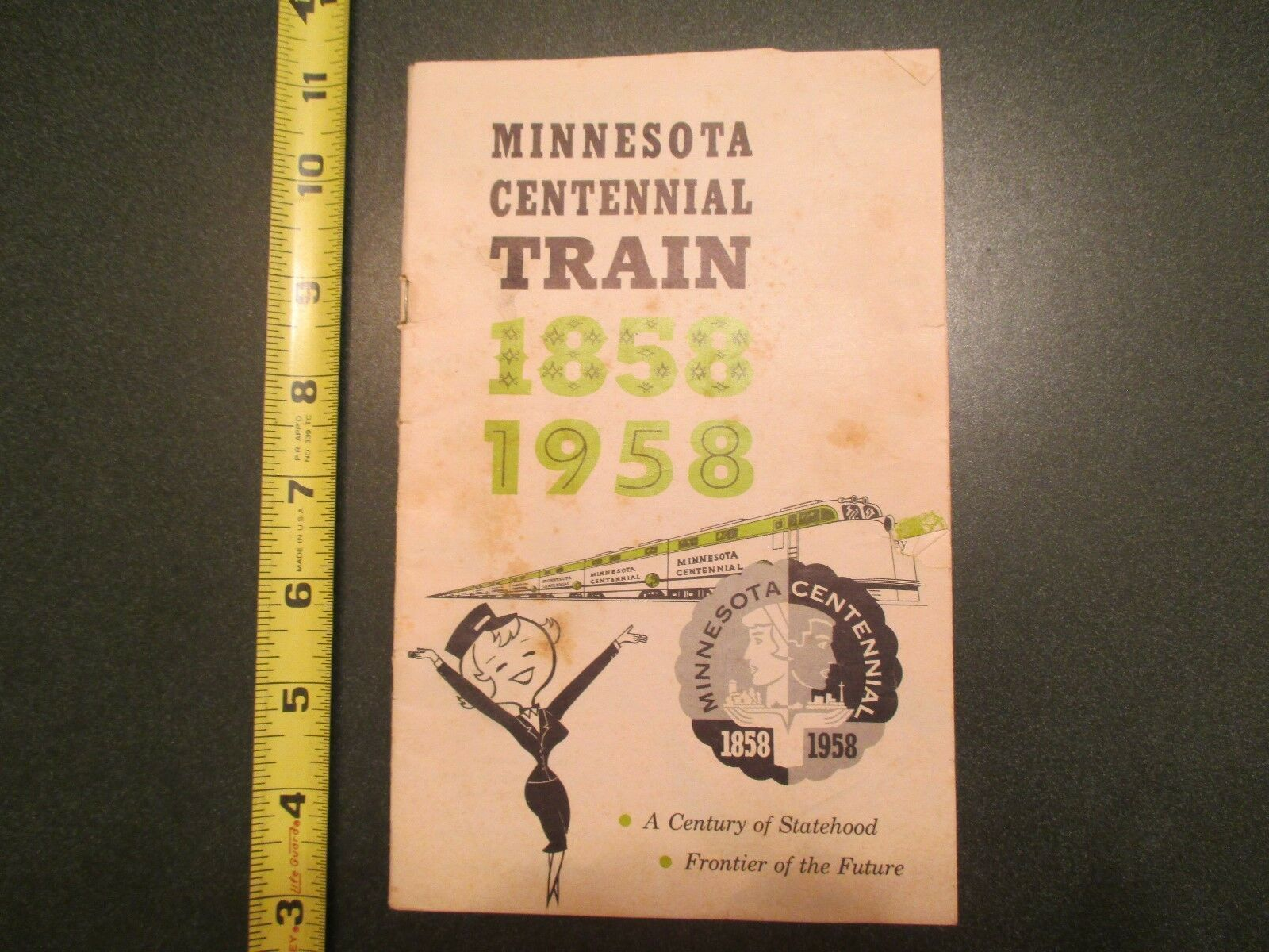 1958 Minnesota MN Centennial Train A century of Statehood