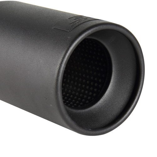 Mufflers Tips 2.875 Inch Inlet 3.75 Outlet Black Steel Exhaust Slant Cut Tip
