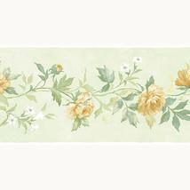 Yellow Rose Flowers Wallpaper Border Patton Norwall PP79473 Pretty Prints 4 - $16.99