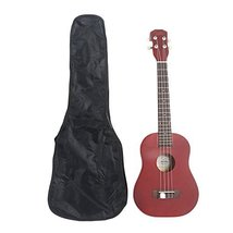 "26"" Pure Color Rosewood Fingerboard Basswood Tenor Ukulele with Bag (Red) - $33.99"
