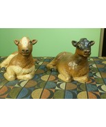 2 Vintage Wooden Cow Figures from the Folklore Collection by Vestwood  -... - $19.75