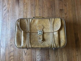 Vintage Travel Luggage by American Tourister Brown With Original Tag - $34.64