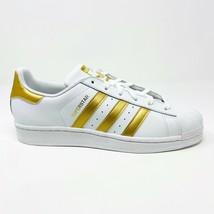 Adidas Originals Superstar White Gold Metallic Sneaker Youth Size 7 B39402 - $57.95