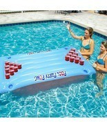 Inflatable Beer Pong Float Summer Water Party Table Pool Game Fun Beer P... - £111.27 GBP