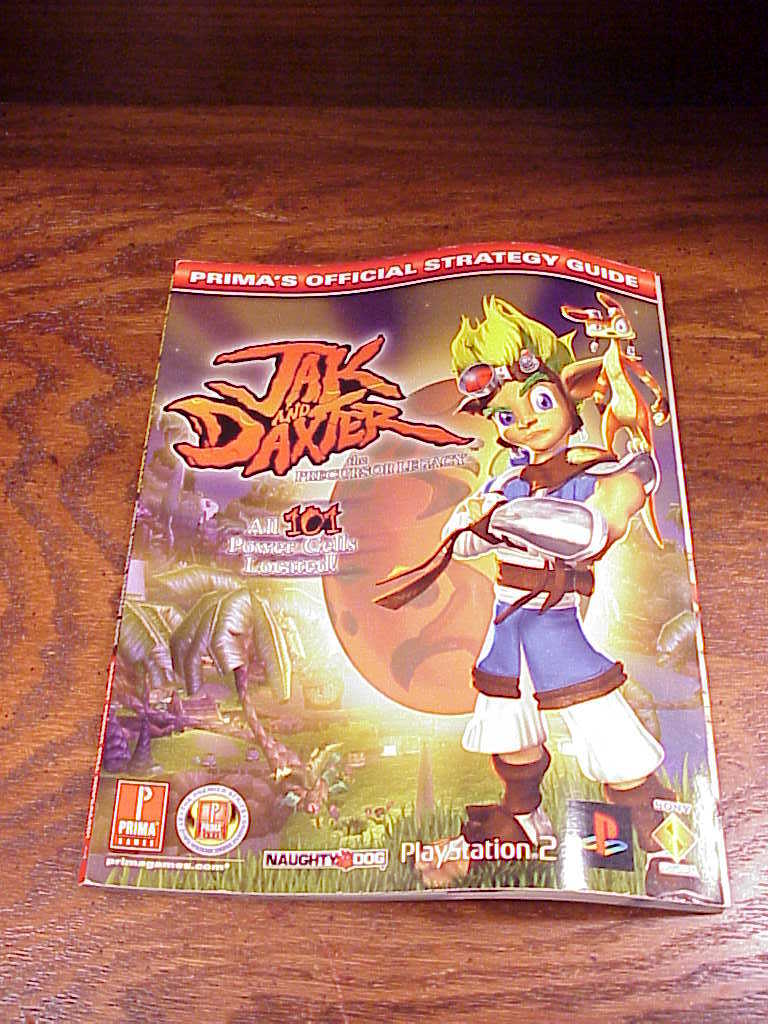 Jak and Daxter The Precurser Legacy  Prima Official Strategy Guide Book, for PS2