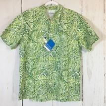 NEW Columbia PFG Men's Medium Green Vented Back Short Sleeve Fishing Shirt - $21.96