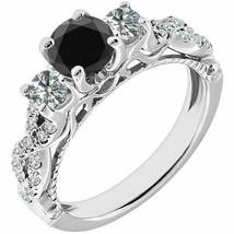 1.75ct Black AAA Enhanced Diamond Promise Engagement Bridal Ring Set 14K... - $1,300.81