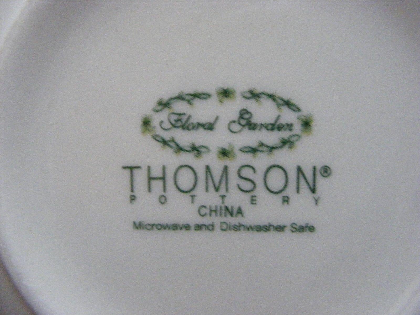 "Thomson Floral Garden 7"" Soup Bowl Purple & Yellow Flowers"