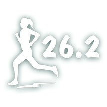 Marathon 26.2 GIRL WOMAN running decal bumper sticker Olympic mile runne... - $8.83