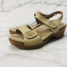 Dansko 41 10M beige Sonnet clog sandals womens comfort shoes 9845032200 - $49.45