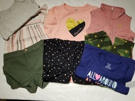 NWT Carter's Baby Girls Mixed Lots 8 Piece Tops Bottoms Size 24 M NWT - $39.59