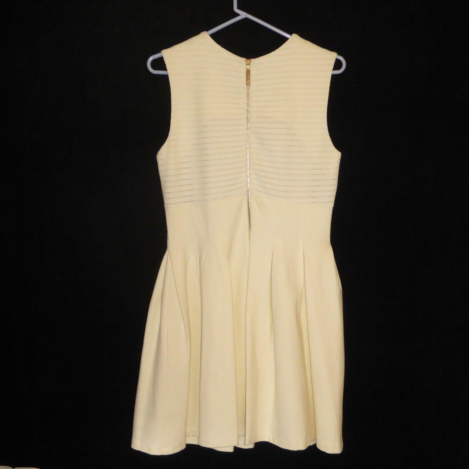 NWT BCBG Maxazria Medium Lined Dress Off White Color NEW $368 Sleeveless BackZip