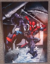 Marvel Spider-Man vs Venom Glossy Print 11 x 17 In Hard Plastic Sleeve - $24.99