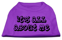 It's All About Me Screen Print Shirts Purple XS (8) - $11.98