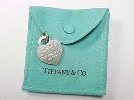 """TIFFANY & CO. """"PLEASE RETURN TO"""" Sterling HEART CHARM PENDANT with Pouch - $85.00"""