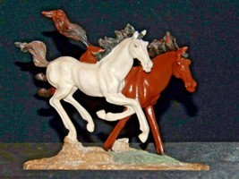 Brown and white Horse figurine AA19-1691 Vintage
