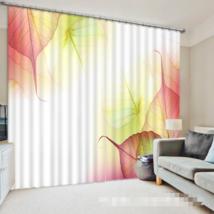 3D Leaf Color 0209Blockout Photo Curtain Print Curtains Drapes Fabric Window UK - $145.49+