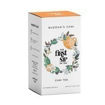 Organic Buddha's Chai Tea - 16 Tea Sachet Box - Relaxing Flavorful Chai Tea - $4.46+