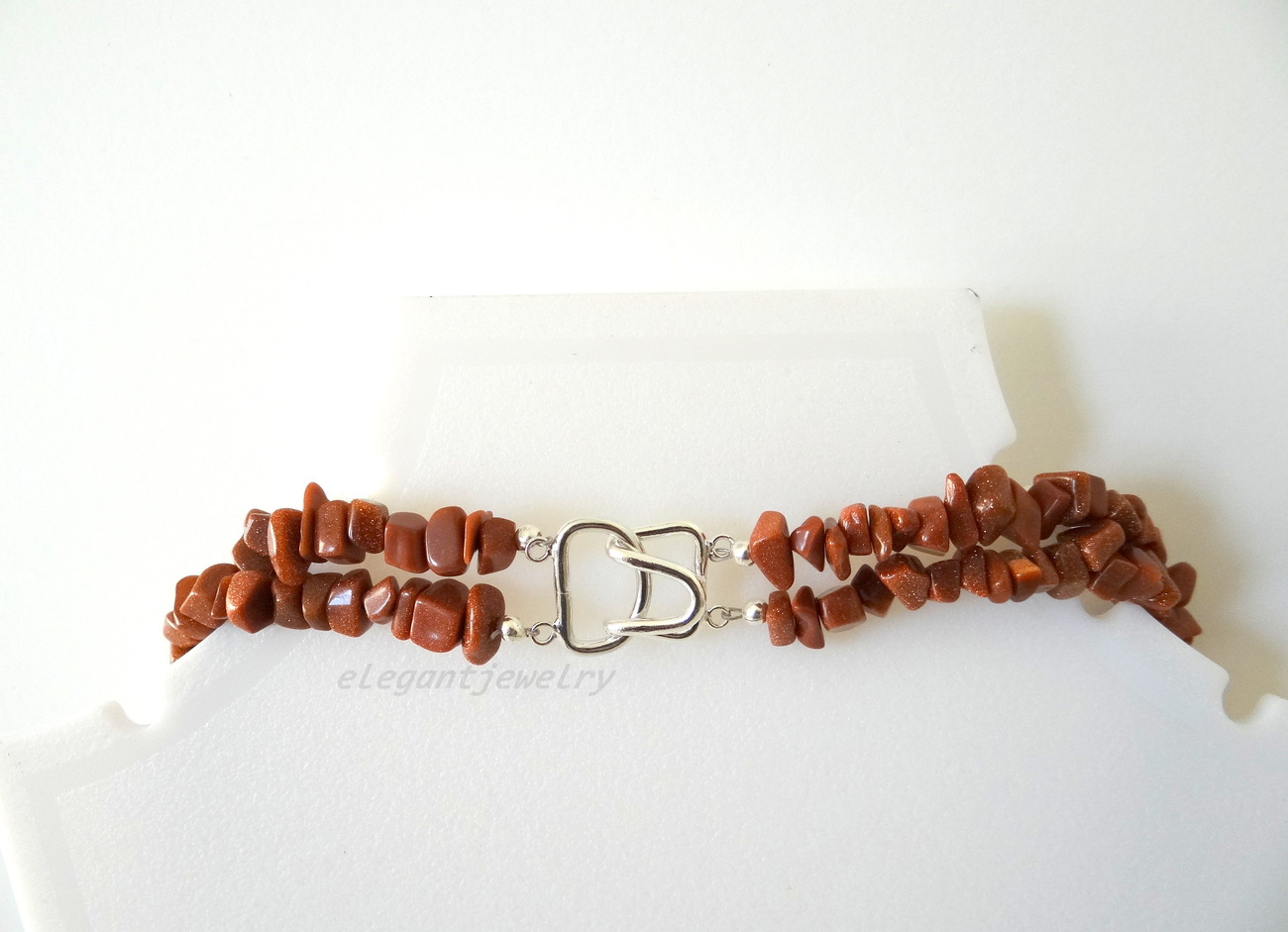 GOLDSTONE CHIP NECKLACE