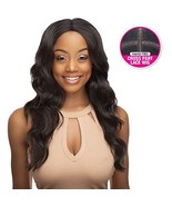 Style Plus Human Hair Blend Lace Front Wig Cross Part Lace Body Wave [Vi... - $51.03