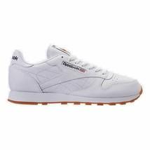 Men's Reebok Classic Leather Gum Casual Shoes White/Gum 49797 WHT - $109.80